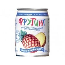 Напиток фруктовый FRUITING с кусочками ананас, 0,238л, 1 штука
